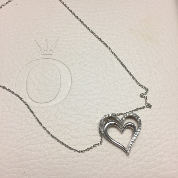48c8cf41d Kay Jewelers Jewelry | Kay Sterling Silver Open Heart Necklace ...